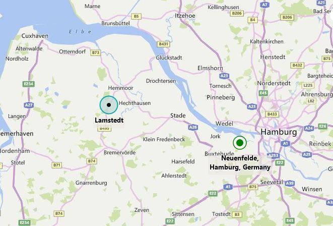 Neuenfelde Lamstedt map