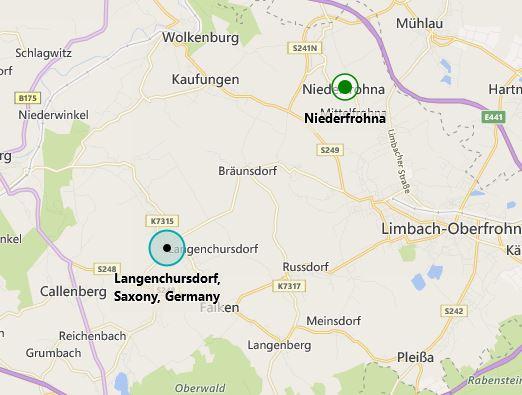 Niederfrohna Langenchursdorf map