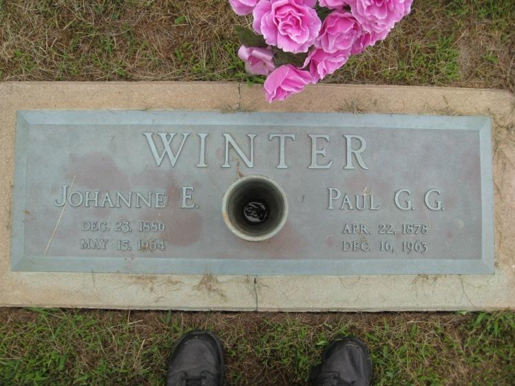 Paul and Johanne Winter gravestone Concordia Frohna