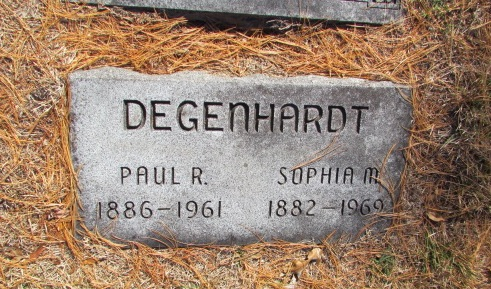 Paul and Sophia Degenhardt gravestone Concordia St. Louis