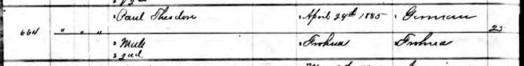 Paul Theodore Mueller birth record 1