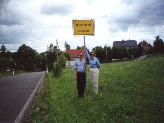 Rückersdorf Town Sign