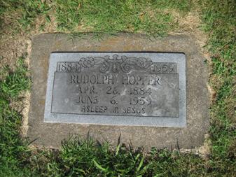 Rudolph Hopfer gravestone Grace Uniontown MO