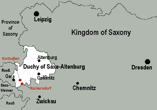 Saxe-Altenburg Map