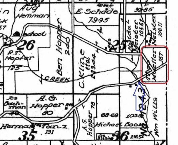 Theodore Mueller land map