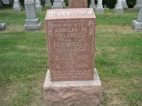 Amalia Hellwege gravestone Concordia Frohna MO