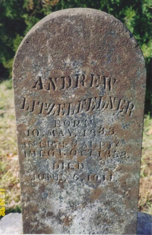 Andrew Litzelfelner gravestone New Jerusalem Pocahontas MO