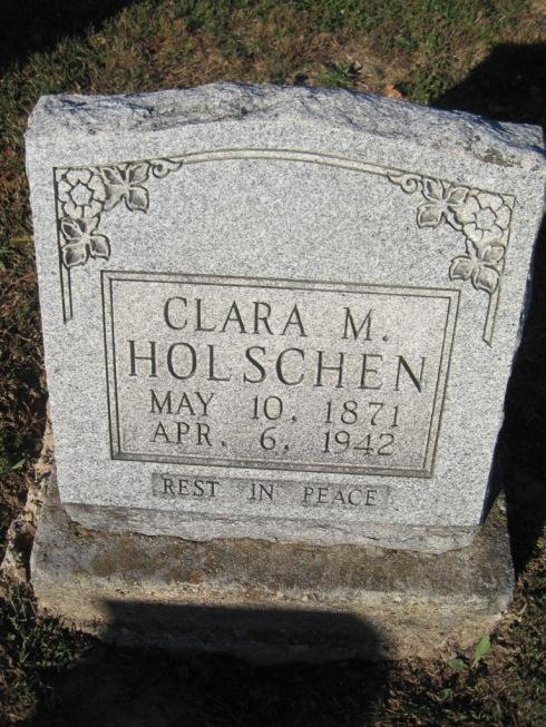 Clara Holschen gravestone Immanuel Altenburg