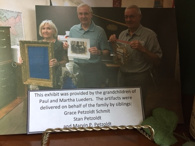 Donors of Lueders artifacts