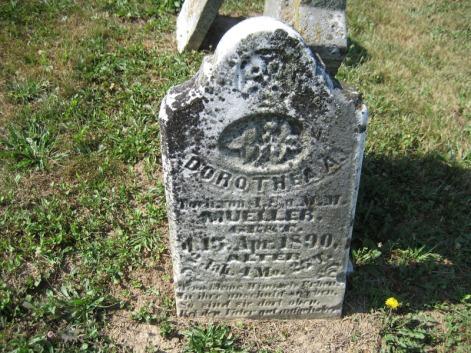 Dorothea Mueller gravestone Trinity Altenburg MO