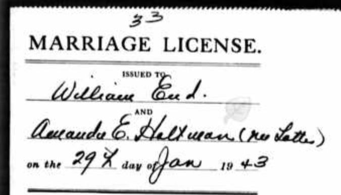 End Lottes marriage license