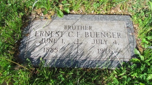 Ernst C F Buenger gravestone Concordia St. Louis