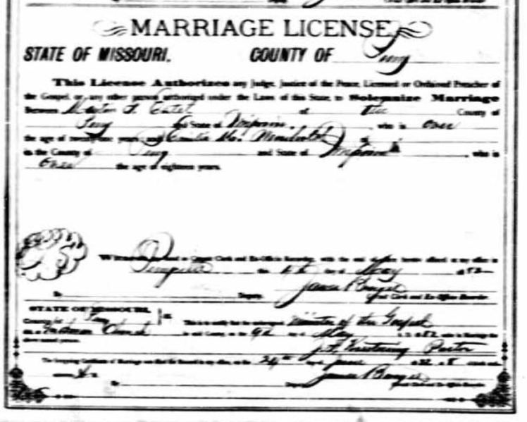 Estel Weinhold marriage license