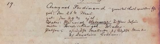 Ferdinand Hellwege baptism record Trinity Altenburg MO