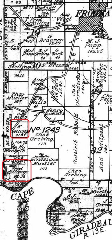Ferdinand Hellwege land map 1915