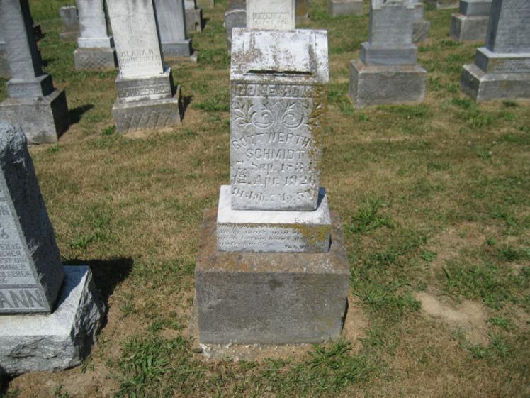 Gottwerth Schmidt gravestone Trinity Altenburg MO