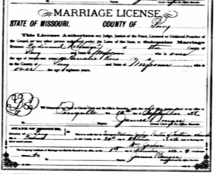 Hellwege Ross marriage license