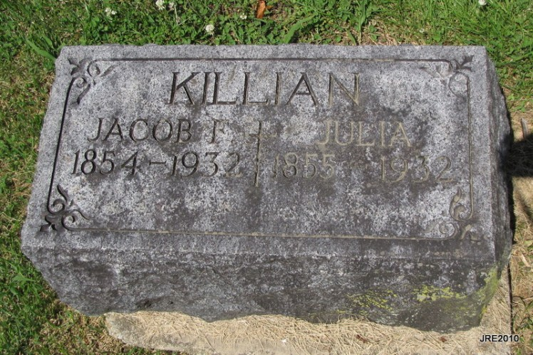 Jacob and Julia Killian gravestone St. Boniface Perryville MO