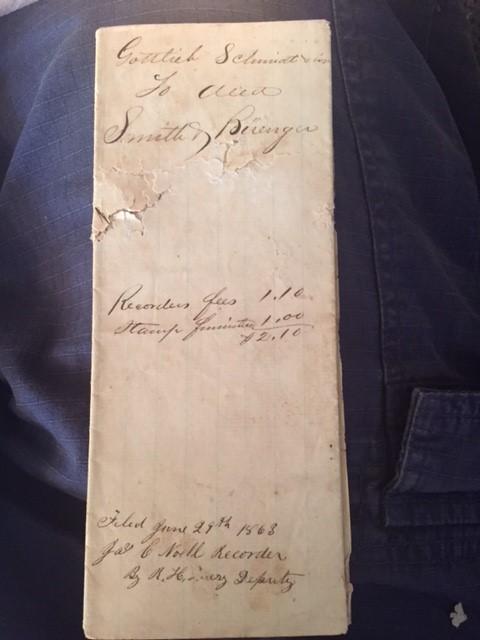 Schmidt Buenger deed 2 1863