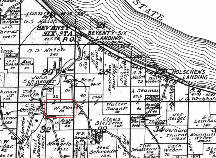 Wilmer Finger land map 1915
