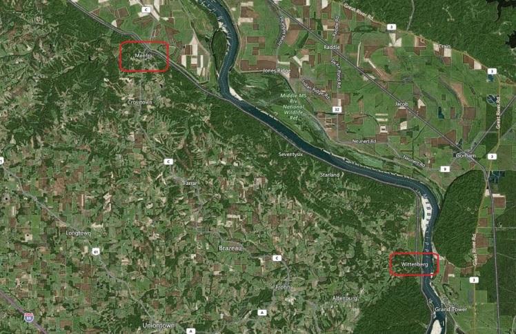 Wittenberg Menfro map