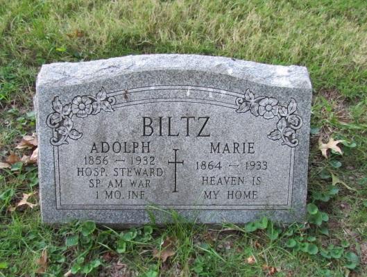 Adolph and Marie Biltz gravestone Concordia St. Louis