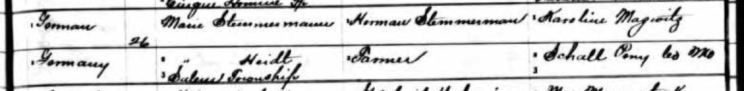 Aline Stemmerman birth record 2