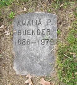 Amalia Buenger gravestone Concordia St. Louis