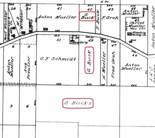 Buck land map Altenburg