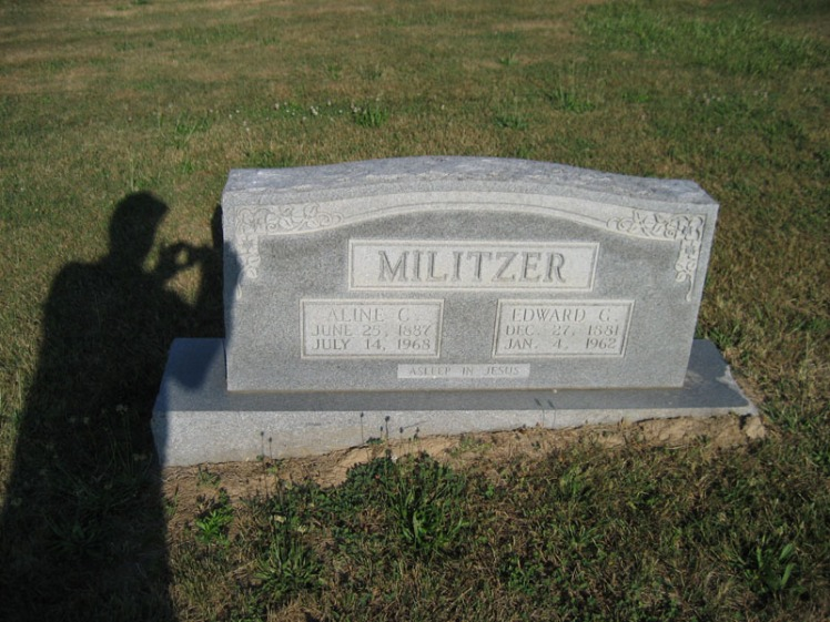Edward and Aline Militzer gravestone Trinity Altenburg MO