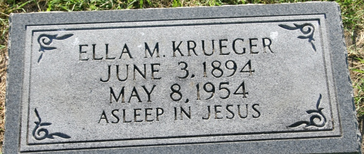 Ella Krueger gravestone Russell Heights Jackson MO
