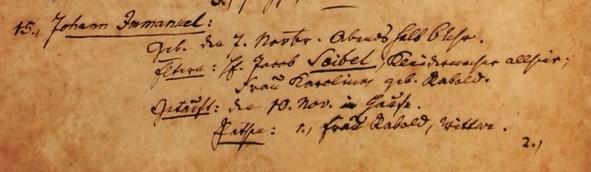 Emanuel Seibel baptism record Trinity Altenburg MO