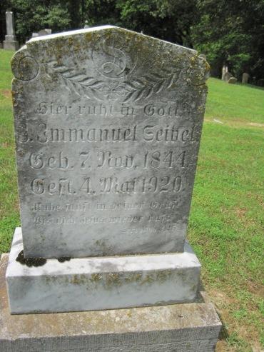 Emanuel Seibel gravestone Concordia Frohna MO