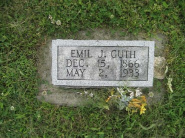 Emil Guth gravestone Immanuel Perryville MO