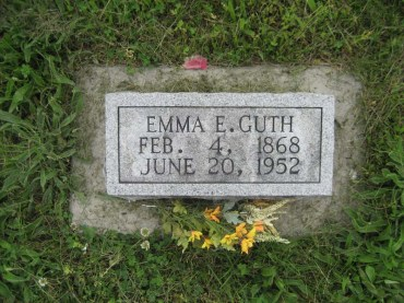 Emma Guth gravestone Immanuel Perryville MO