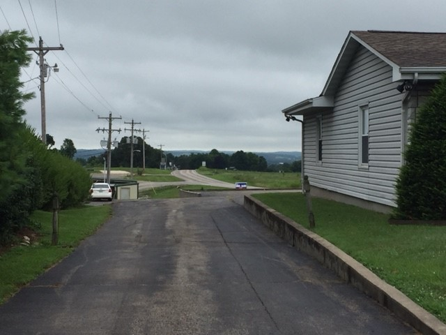 Funeral home driveway old highway C