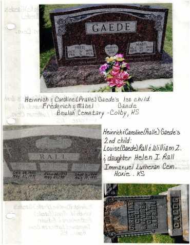 Gaede children gravestones 1 Hoxie KS