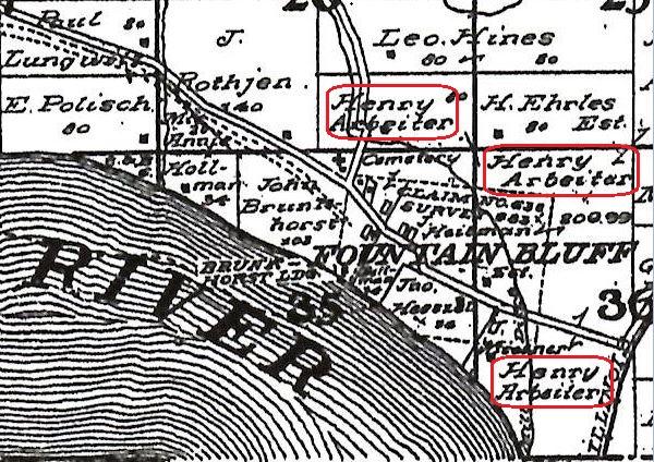 Henry Arbeiter land map