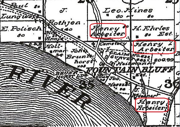 Henry Arbeiter land map