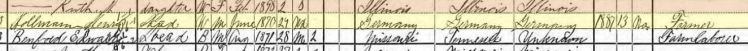 Henry Hollmann 1900 census Jacob IL