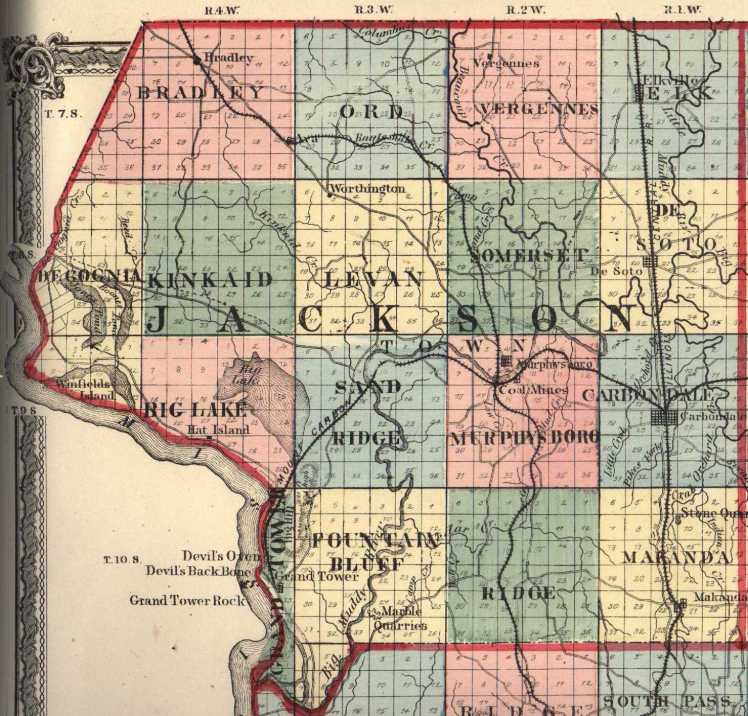 Jackson County IL map