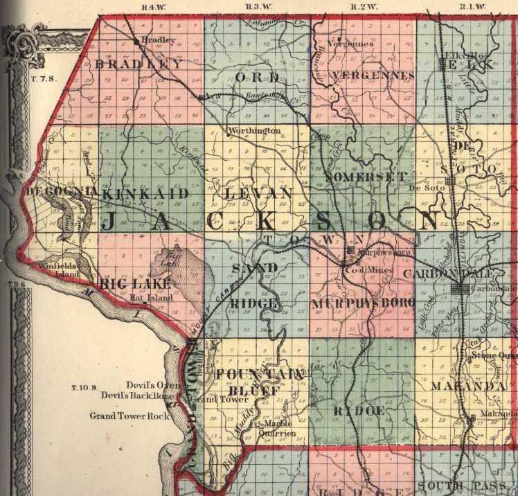 Jackson County IL map