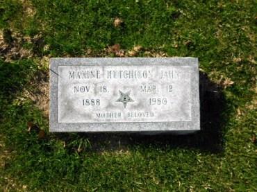 Maxine Hutchison Jahn gravestone Oaklawn Winter Haven FL