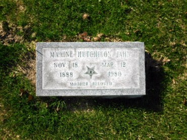 Maxine Hutchison Jahn gravestone Oaklawn Winter Haven FL