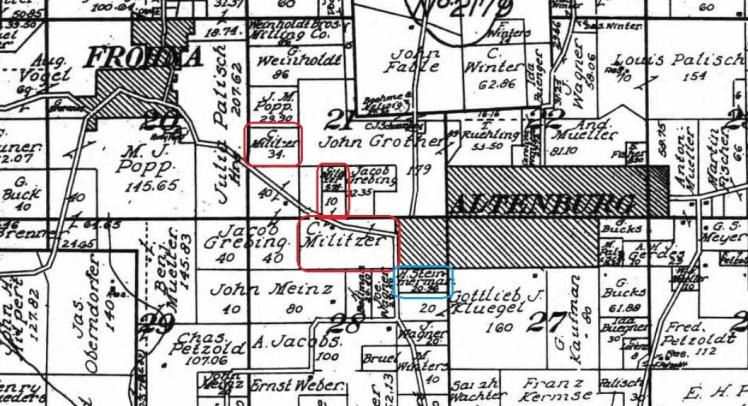 Millitzer Stemmerman land map 1915