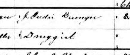 Ottilie Buenger birth record father a druggist
