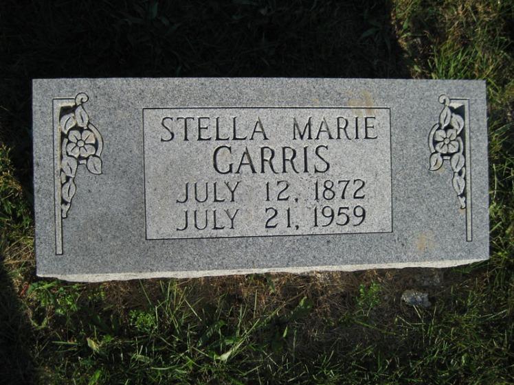 Stella Garris gravestone St. Paul's Wittenberg MO