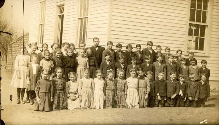Teacher Louis Luepke with class 2 Uniontown