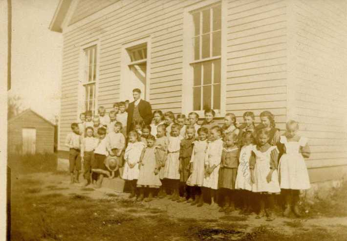 Teacher Louis Luepke with class Uniontown