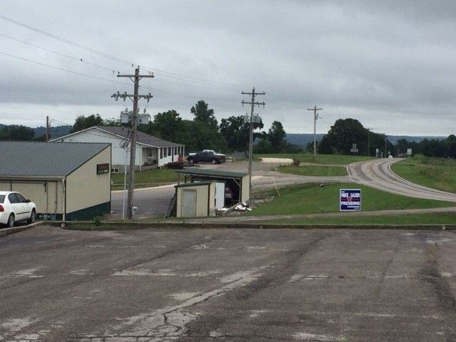 View of Hwy C from funeral home